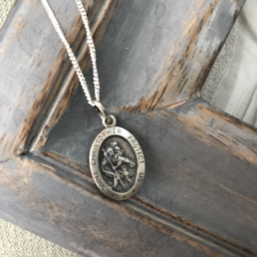 Boy's Confirmation gift - silver St Christopher